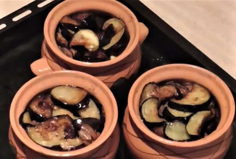 телятина с баклажанами
