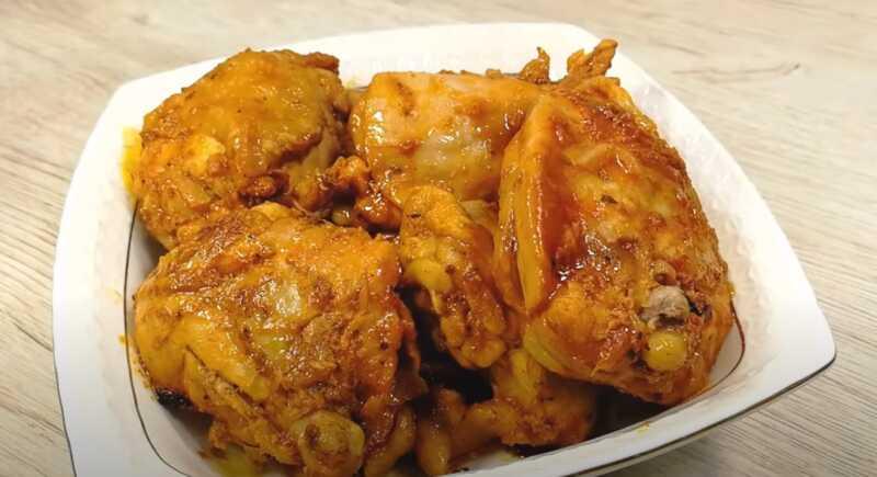 запеченные бедра курицы