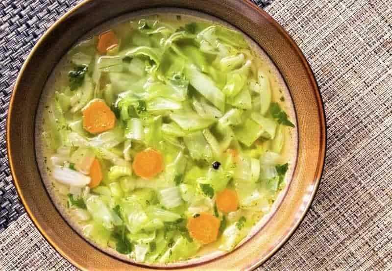 суп с капустой без мяса
