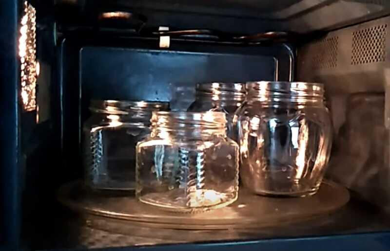 стерилизация мокрых банок в микроволновке