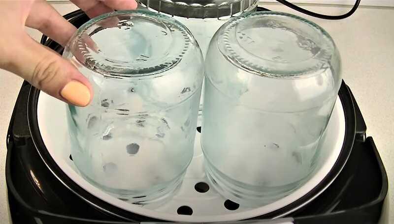 стерилизация банок в мультиварке
