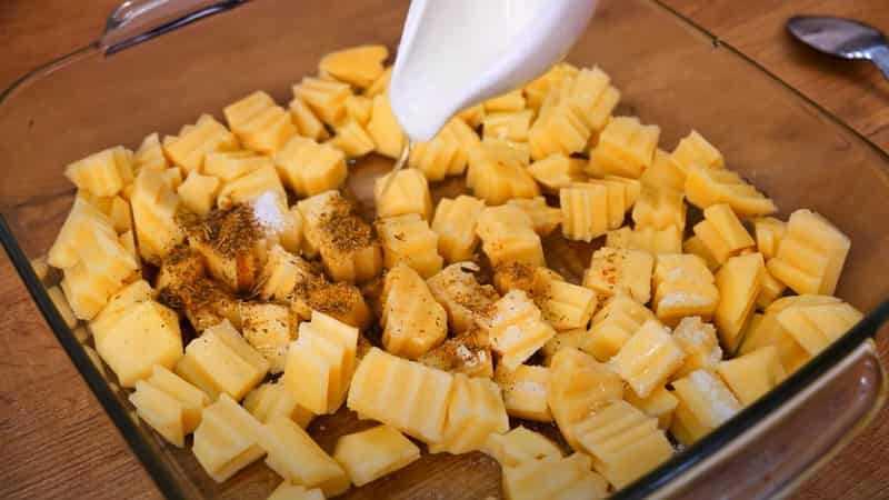 кусочки картофеля
