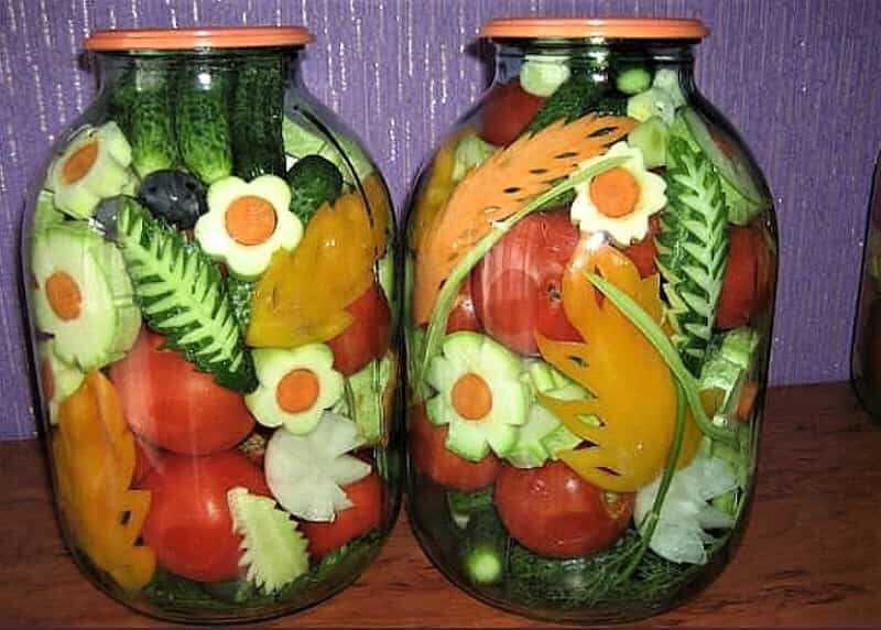 красивые овощи в банке