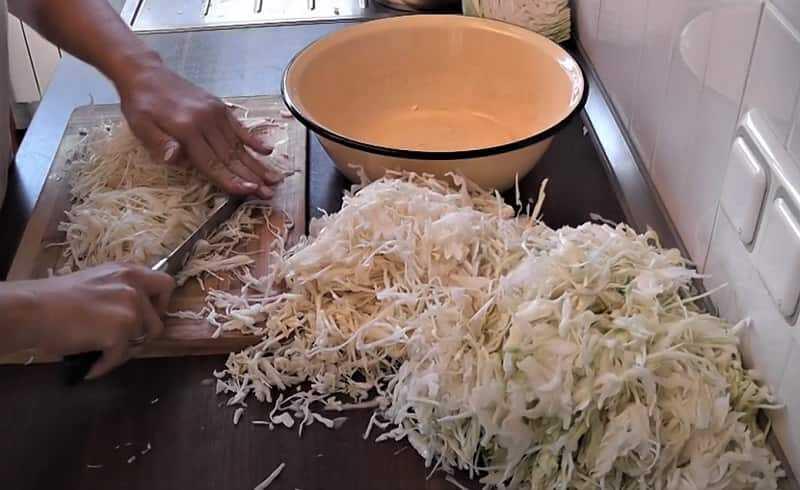 нарезанная капуста