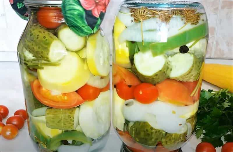 ассорти из овощей в банках на зиму