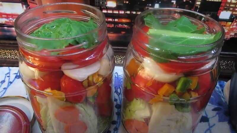 капуста с овощами