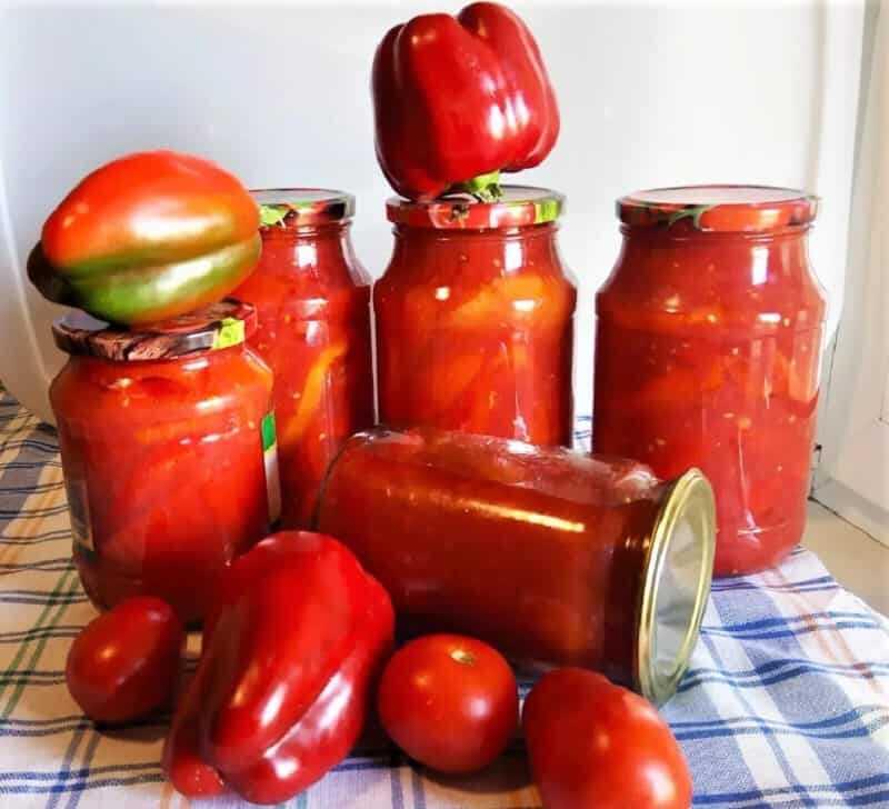 перцы в банках с томатным соком
