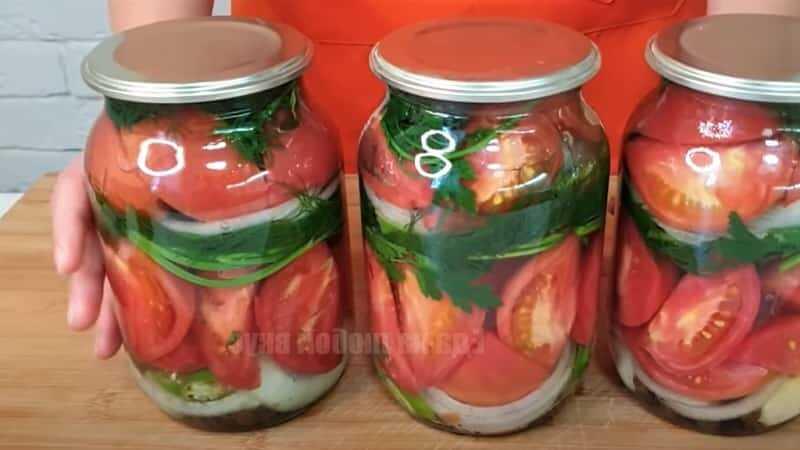 помидоры маринованные дольками