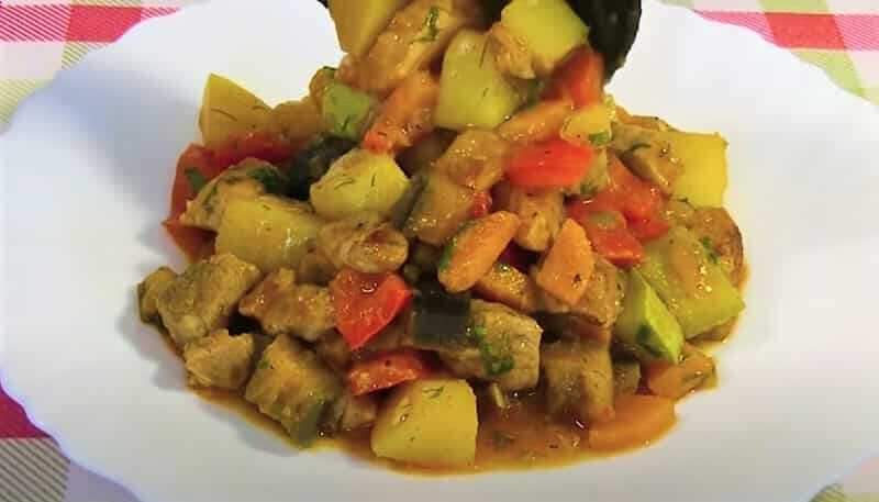 блюда из кабачков в виде рагу
