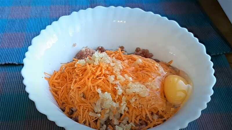 морковь в фарше