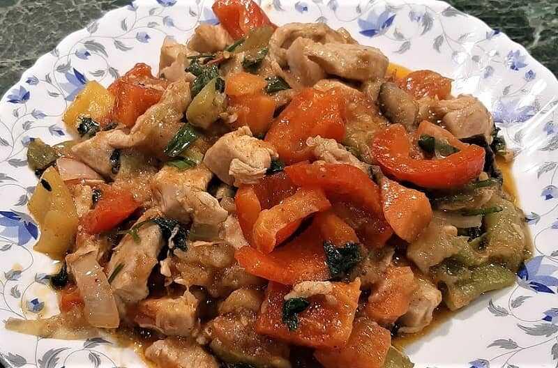 куриное мясо с перцем