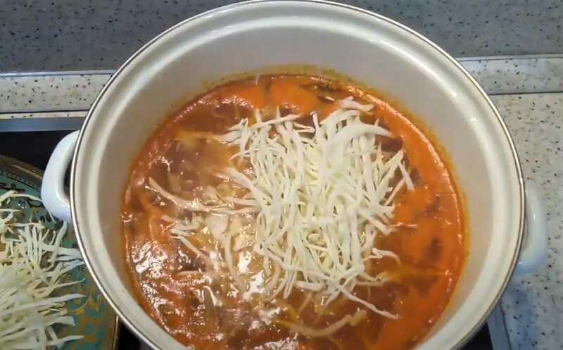 капуста в супе
