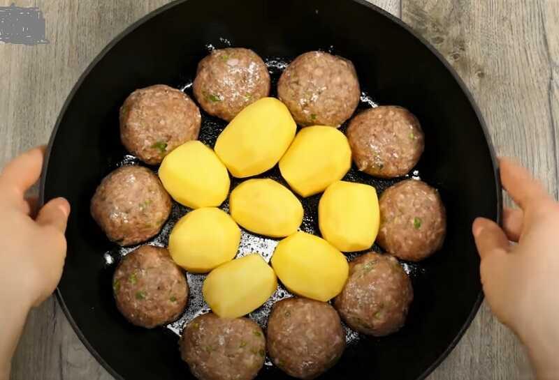 тефтели вокруг картошки