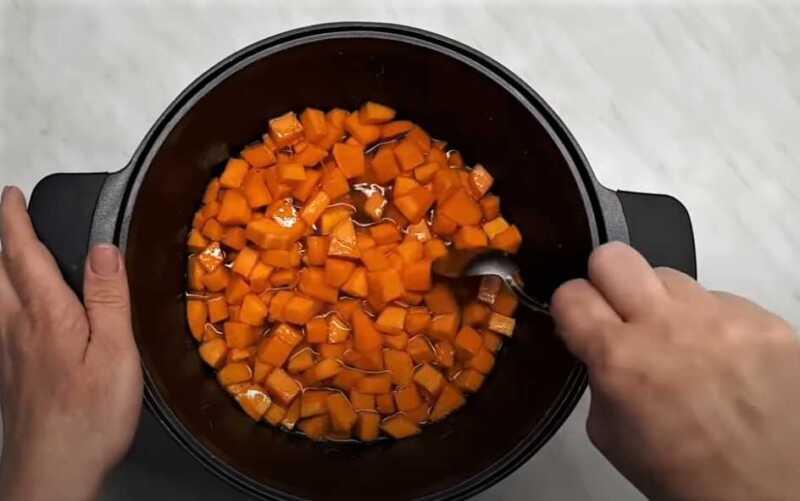 кусочки тыквы в сиропе