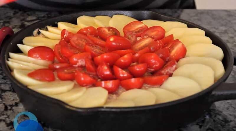 помидоры и картошка