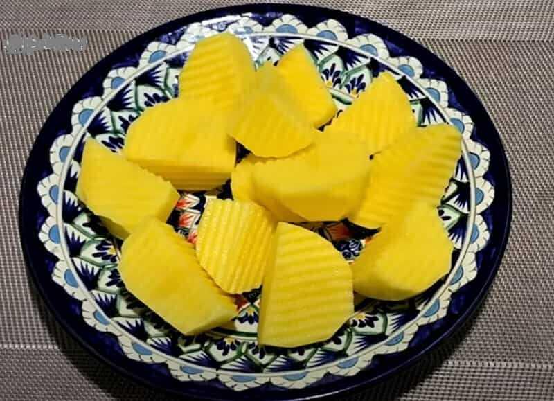 кусочки картошки