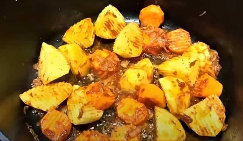 картофель в соусе
