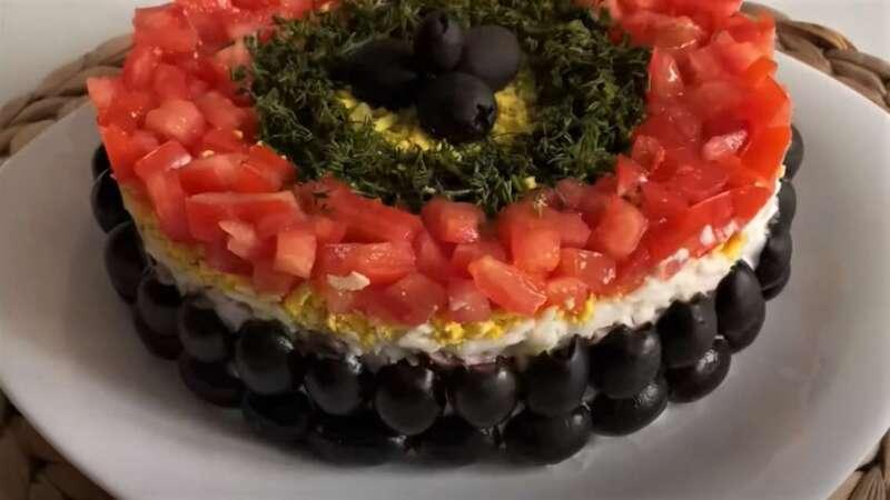 салат на новый год