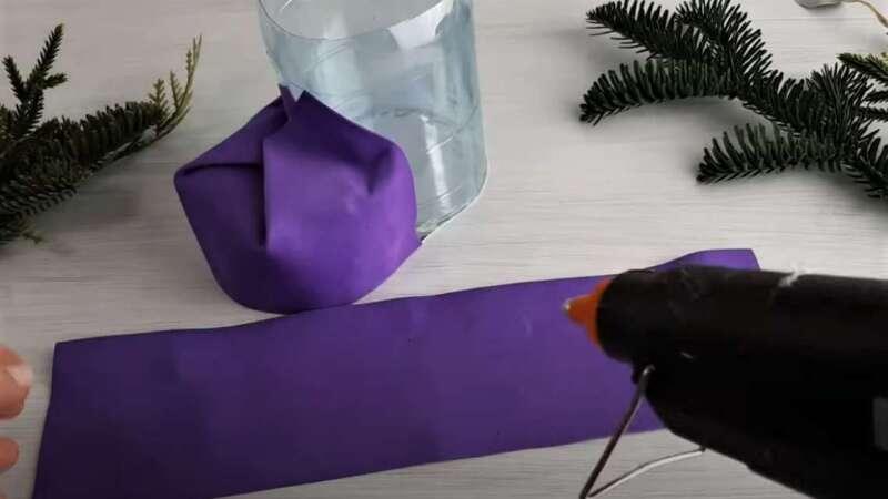 украшение бутылки бумагой