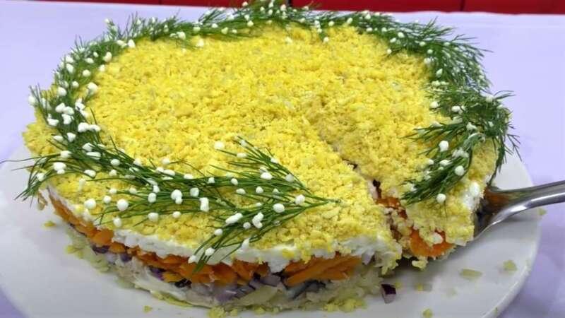 салат мимоза на новый год