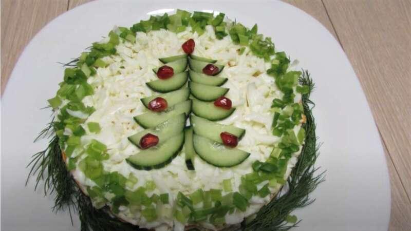 красивый салат на новый год