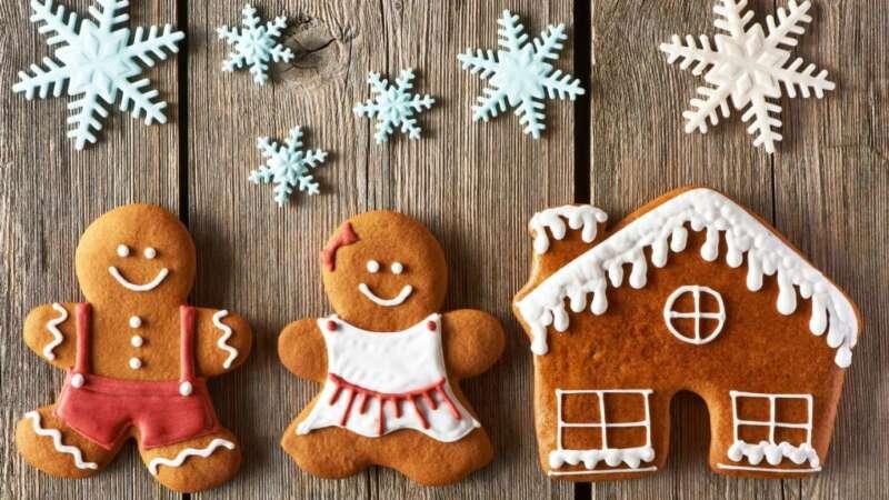 печенье домик и человечки