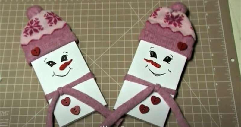 снеговики - съедобные подарки