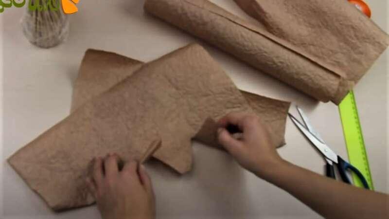 два разреза на бумаге