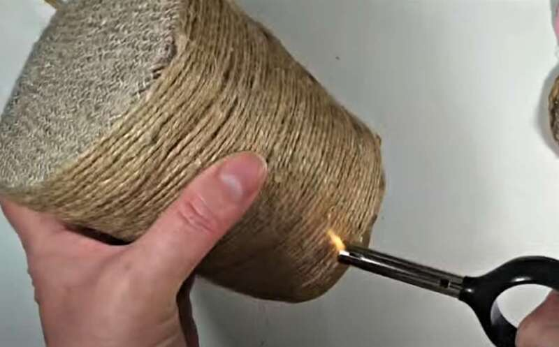 обжигание волосков жгута