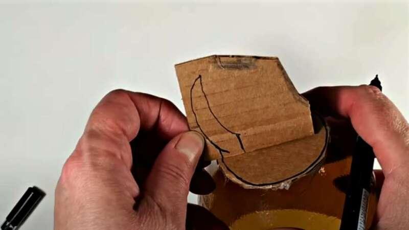рисунок рожек на картоне