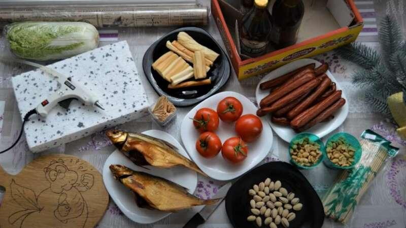 продукты в букет