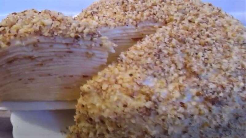 кусок торта из блинов