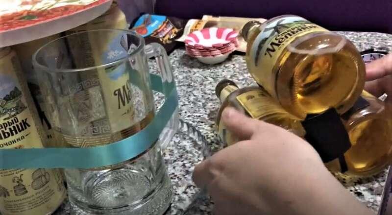 скотч на бутылках