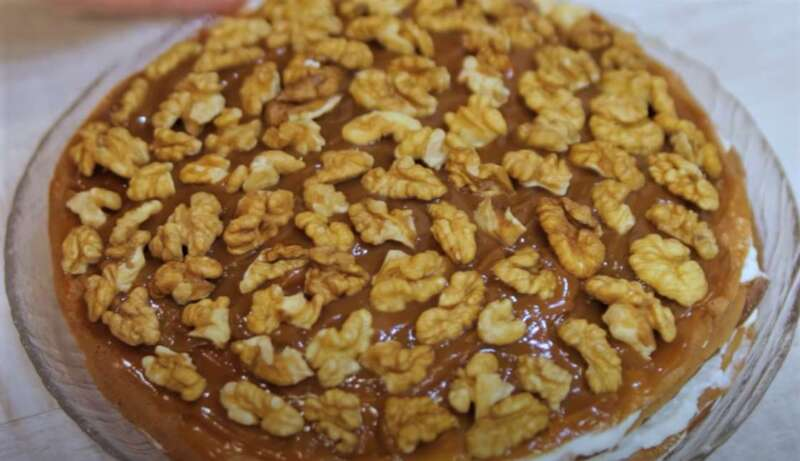 блинный торт с орешками