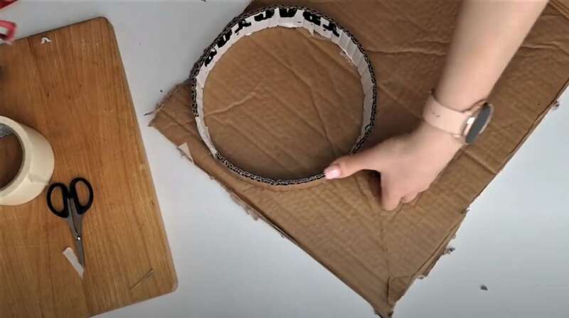 круг из картона
