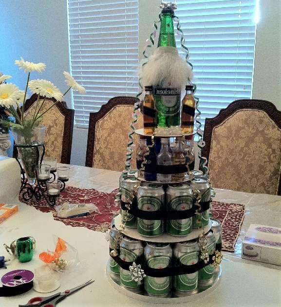 пивной торт высокий