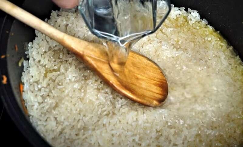 рис в казане
