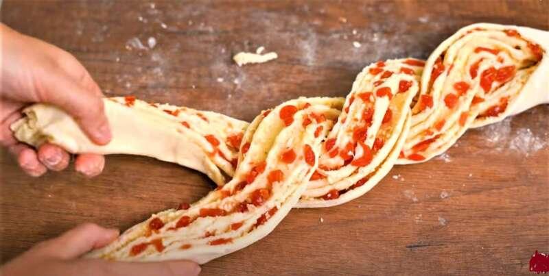 плетеное тесто