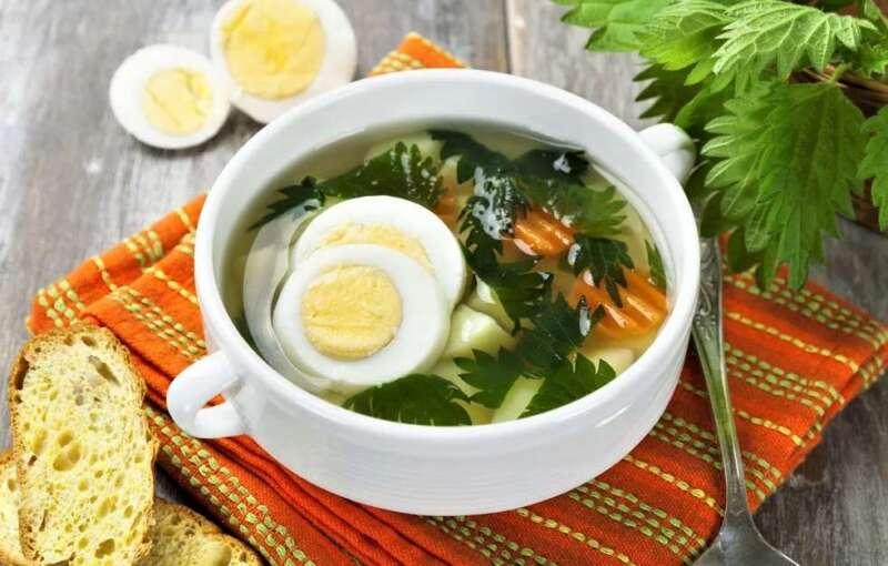 суп из крапивы и яйца