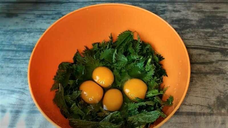 крапива и яйца