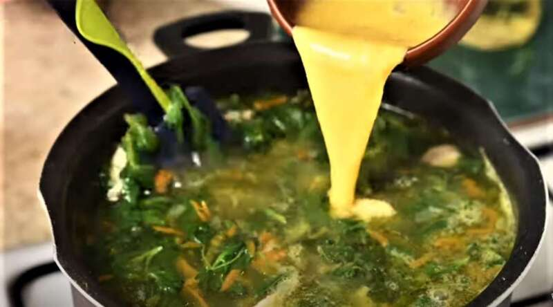 яйцо смешанное в суп