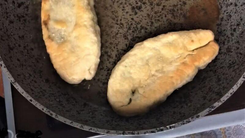 жареные пирожки с щавелем