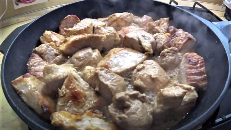 жарка свинины