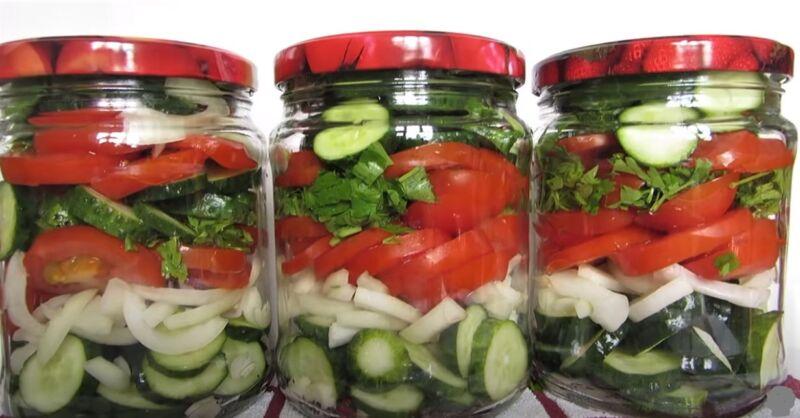 в банке овощи