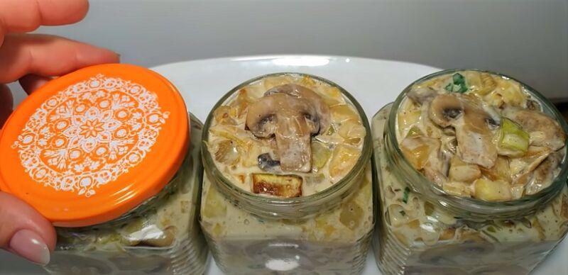 стерилизация банок с грибами и кабачками