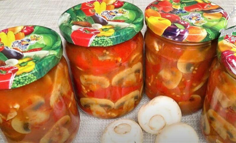 салат на зиму с грибами