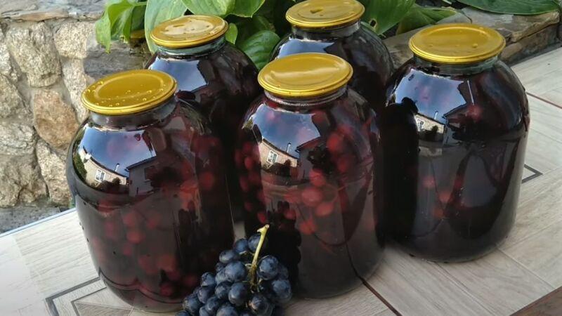 рецепт винограда на зиму в банках