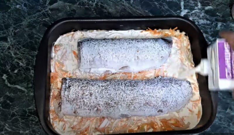 сливки залить в овощи и щуку - как приготовить щуку