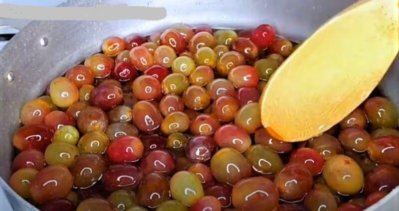 виноград в сиропе