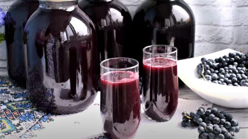 рецепт сока из винограда на зиму в банках